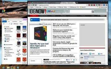 O Desktop do Windows é muito parecido com o do Windows 7