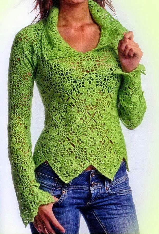 Free Crochet Pattern For Womens Sweater : Free Crochet Patterns By Cats-Rockin-Crochet