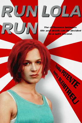 Poster Of Run Lola Run (1998) In Hindi Dubbed 300MB Compressed Small Size Pc Movie Free Download Only At exp3rto.com