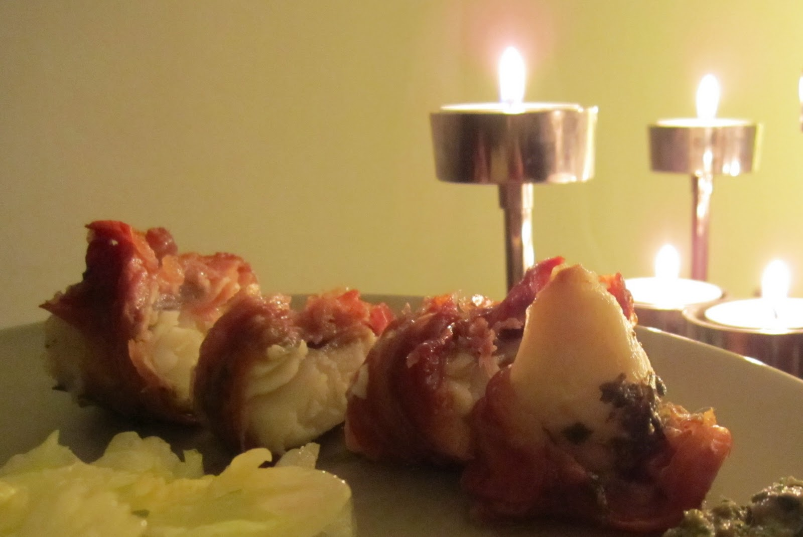 Mummy cooks italian monkfish wrapped in parma ham for Monkfish and parma ham recipe