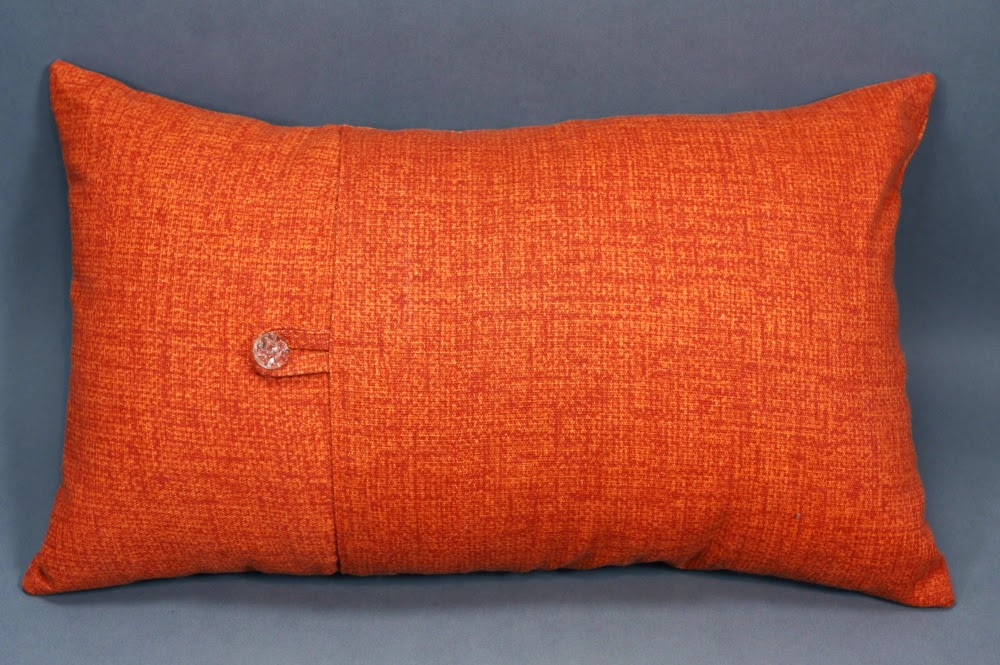 Textile and Decor: Orange Decorative Pillow with Bird Design