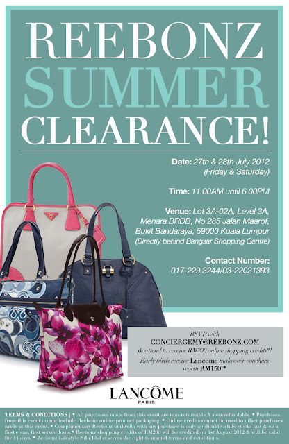 Reebonz Summer Clearance Happening Tomorrow & Saturday!