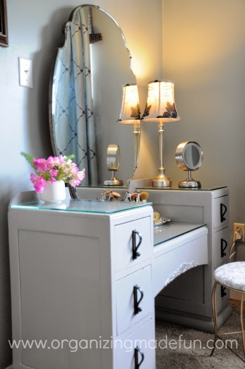 25 of My Best Organizing Hack: File Folders to organize a vanity:: OrganizingMadeFun.com