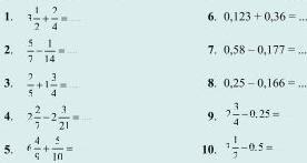 Soal Matematika SD Kelas 6 - Penjumlahan dan Pengurangan Pecahan Desimal