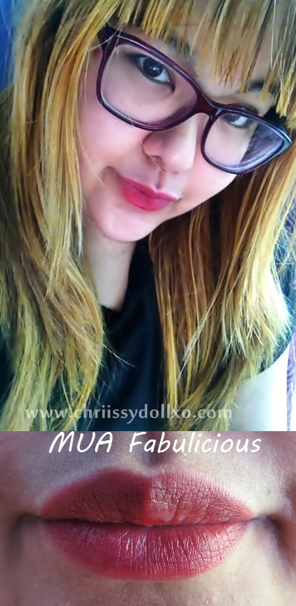 MUA Kiss Proof Lip Stain in Fabulicious swatches