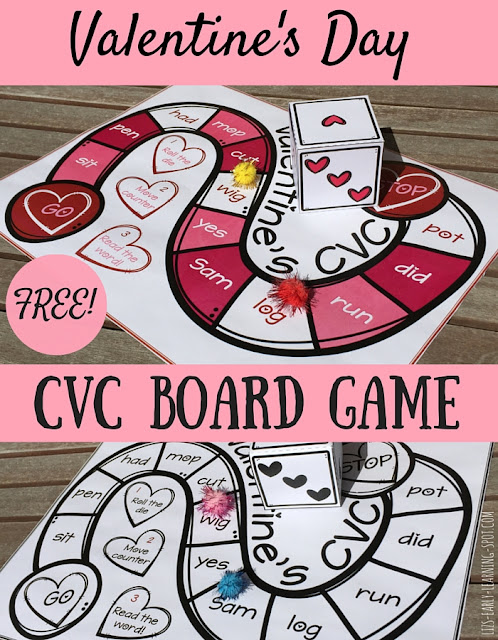Valentines Day CVC Board Game