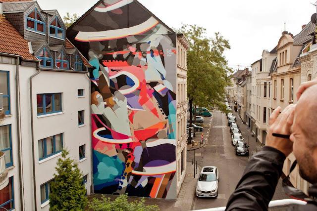 Street Art By SatOne In Cologne, Germany For CityLeaks Urban Art Festival. 3