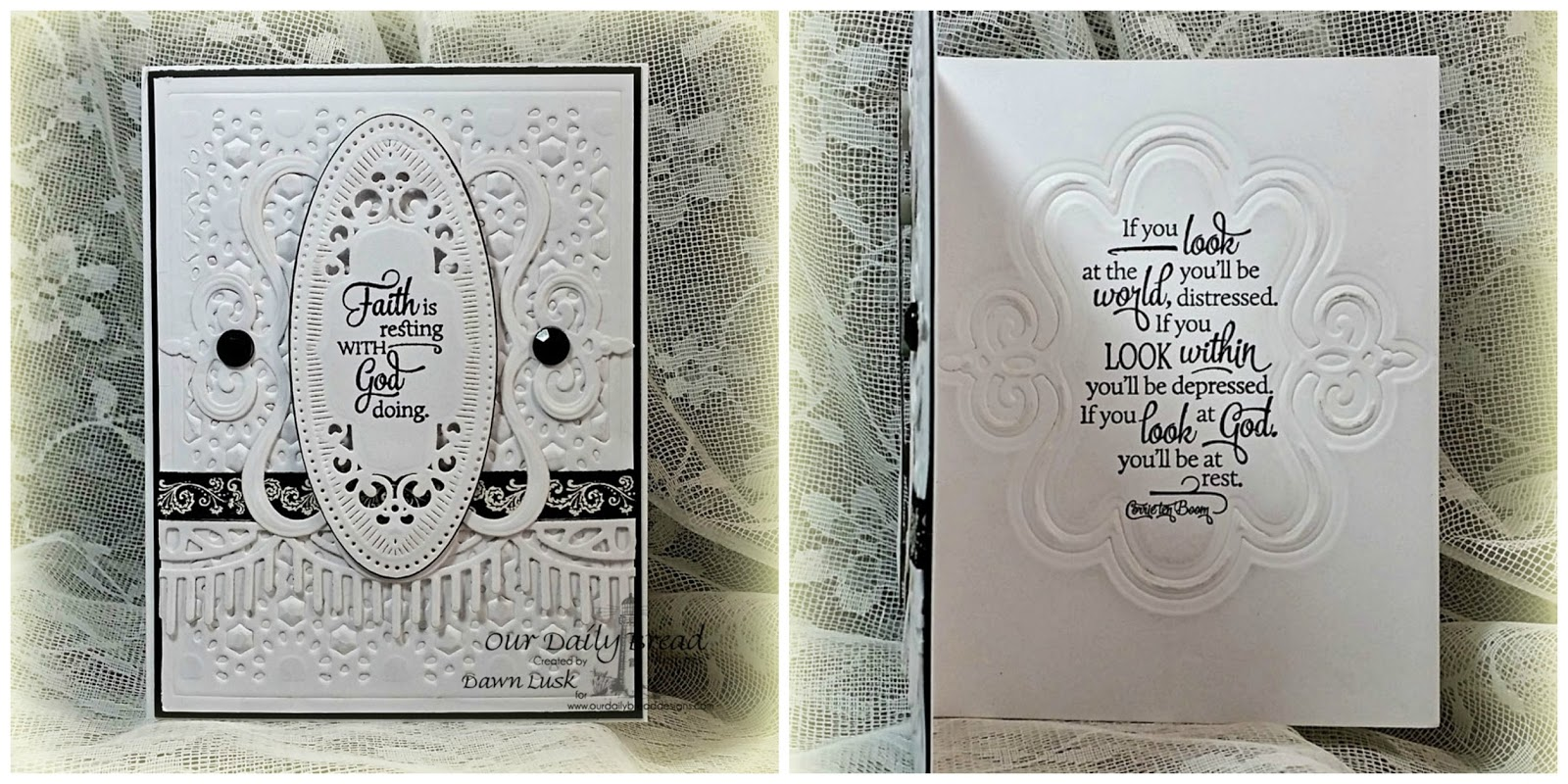 Stamps - Our Daily Bread Designs Quote Collection 4, ODBD Custom Beautiful Borders Dies, ODBD Custom Daisy Chain Background Die