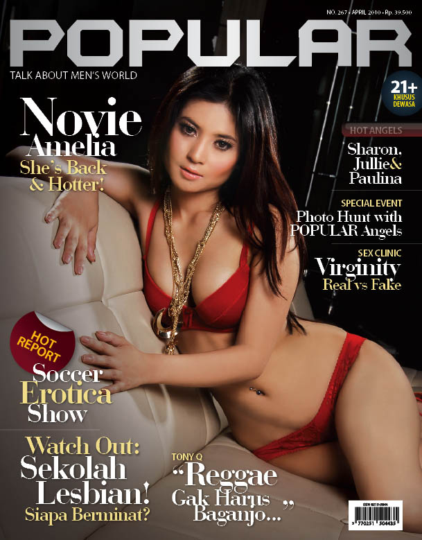 Foto model sampul majalah popular
