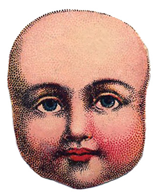 Vintage Image - Antique Doll Head 