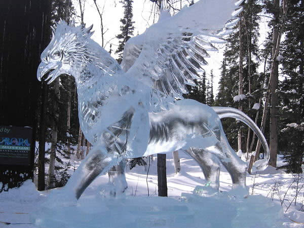 Image result for ice sculptures in the snow