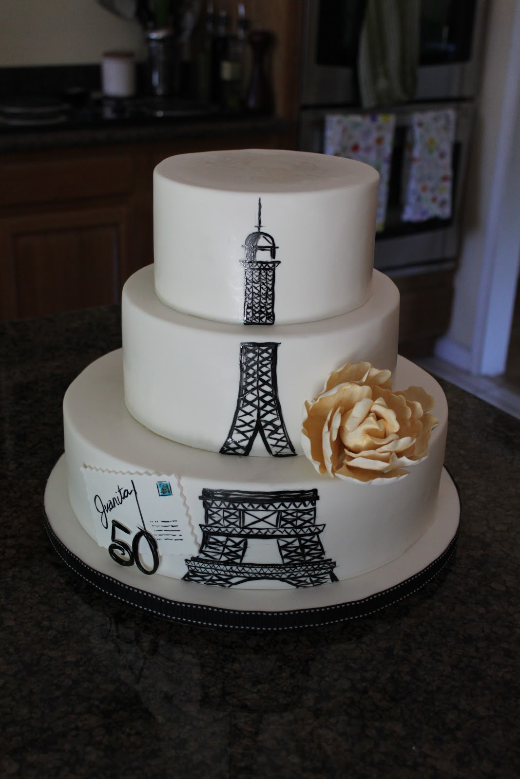 Eiffel Tower Themed Cake | Just The Frosting