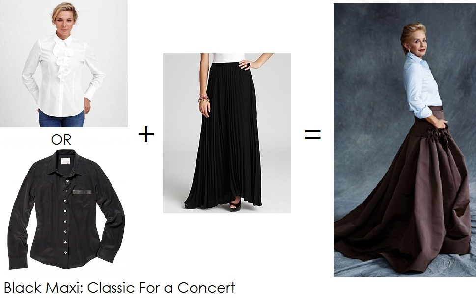 how to wear a black maxi skirt