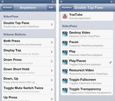 video pane tweak for iPhone