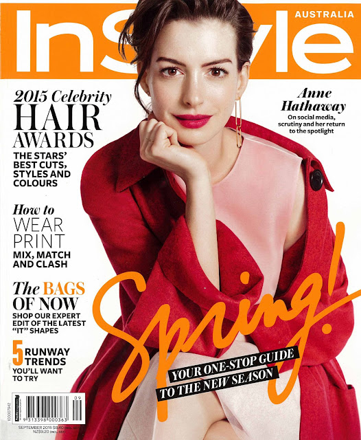 Actress, Singer @ Anne Hathaway - InStyle Australia, September 2015