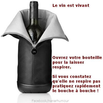 Bouteille de bon vin