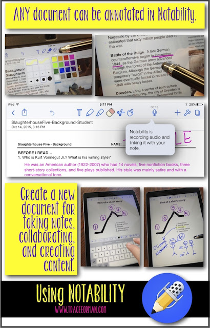 Use Notability to annotate text or create original content
