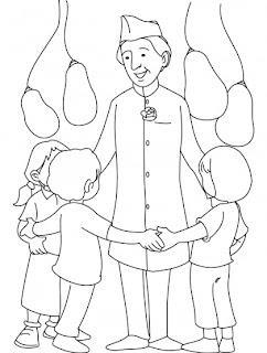 Jawahar Lal Nehru Coloring Pages