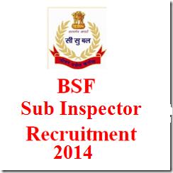 167 Sub Inspector Job BSF India