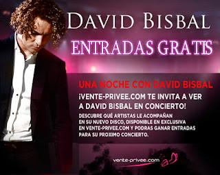 Entradas gratis para concierto de David Bisbal