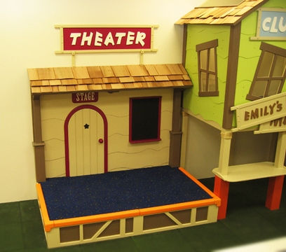 [Play area for kids: theater]