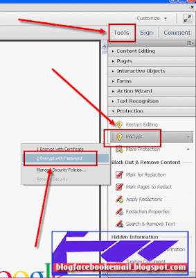 cara memberi password PDF adobe acrobat