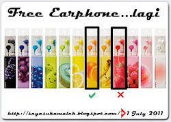 FREE EARPHONE..LAGI..