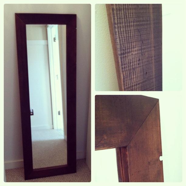 Pine Tree Home: DIY: Full Length Mirror Frame