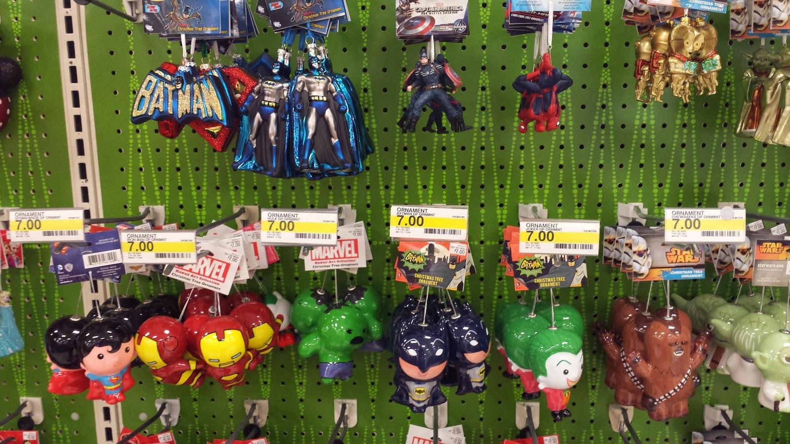 superhero christmas ornaments in target long before thanksgiving - Christmas Ornaments Target
