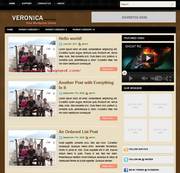 Veronica WordPress Theme