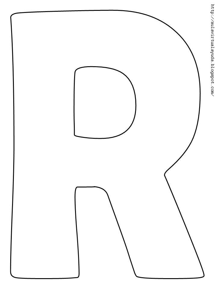 Free coloring pages of letras para recortar - Plantillas para pintar ...