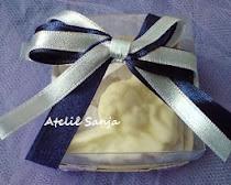 Lembrancinha evangélica- Anjo barroco em sabonete na caixinha