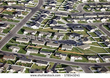 An aerial view of a modern housing subdivision (Credit: Shutterstock) Click to enlarge.