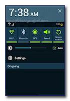 Samsung Galaxy Note 10.1 - Bar Notifikasi