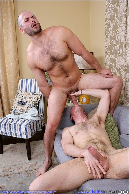 Hairy beefy hunks David Chase and Ben Tramer