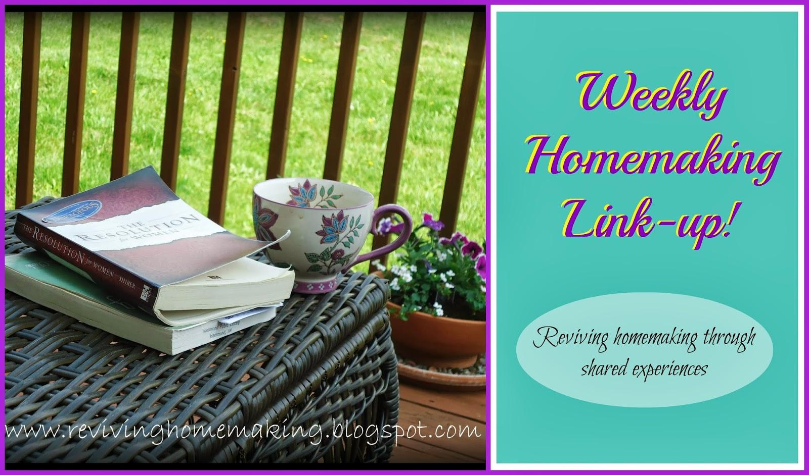 Reviving Homemaking Homemaking Link Up 1
