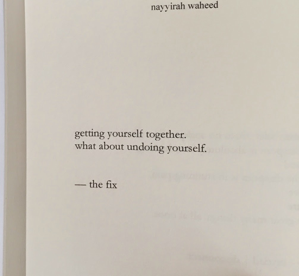 nayyirah waheed - the fix