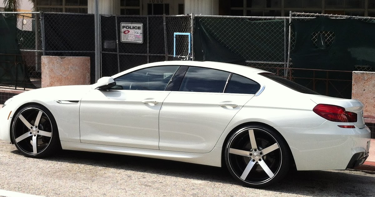 Exotic Cars On The Streets Of Miami White Bmw 640i With