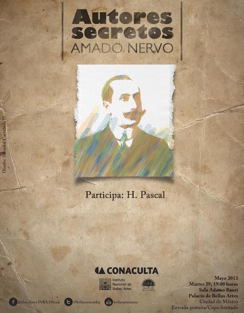 """El ciclo """"Autores secretos"""" presenta a Amado Nervo en el Palacio de Bellas Artes"""