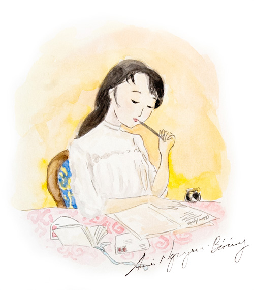 woman women writing letters