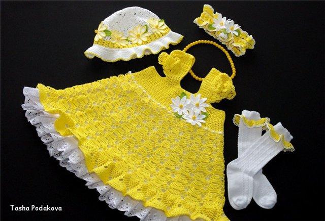 CROCHET DE ANTONIA: Vestido de niña crochet
