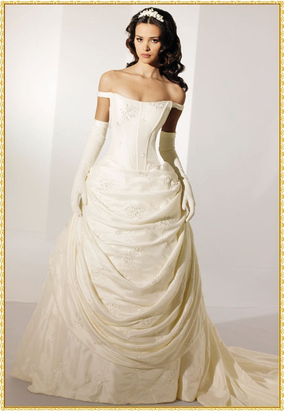 Wedding Gowns With Designs : Princess wedding dresses designs simple