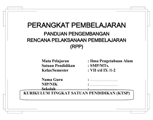Download Rpp Silabus Ipa Smp Kelas 7 8 9 Ktsp Semester I Dan Ii Honorer Info