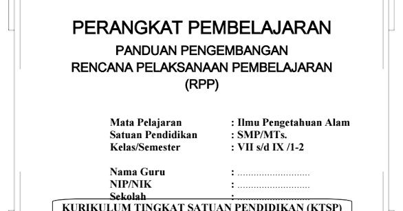 Download Rpp Silabus Ipa Smp Kelas 7 8 9 Ktsp Semester I Dan Ii Info Operator Sekolah