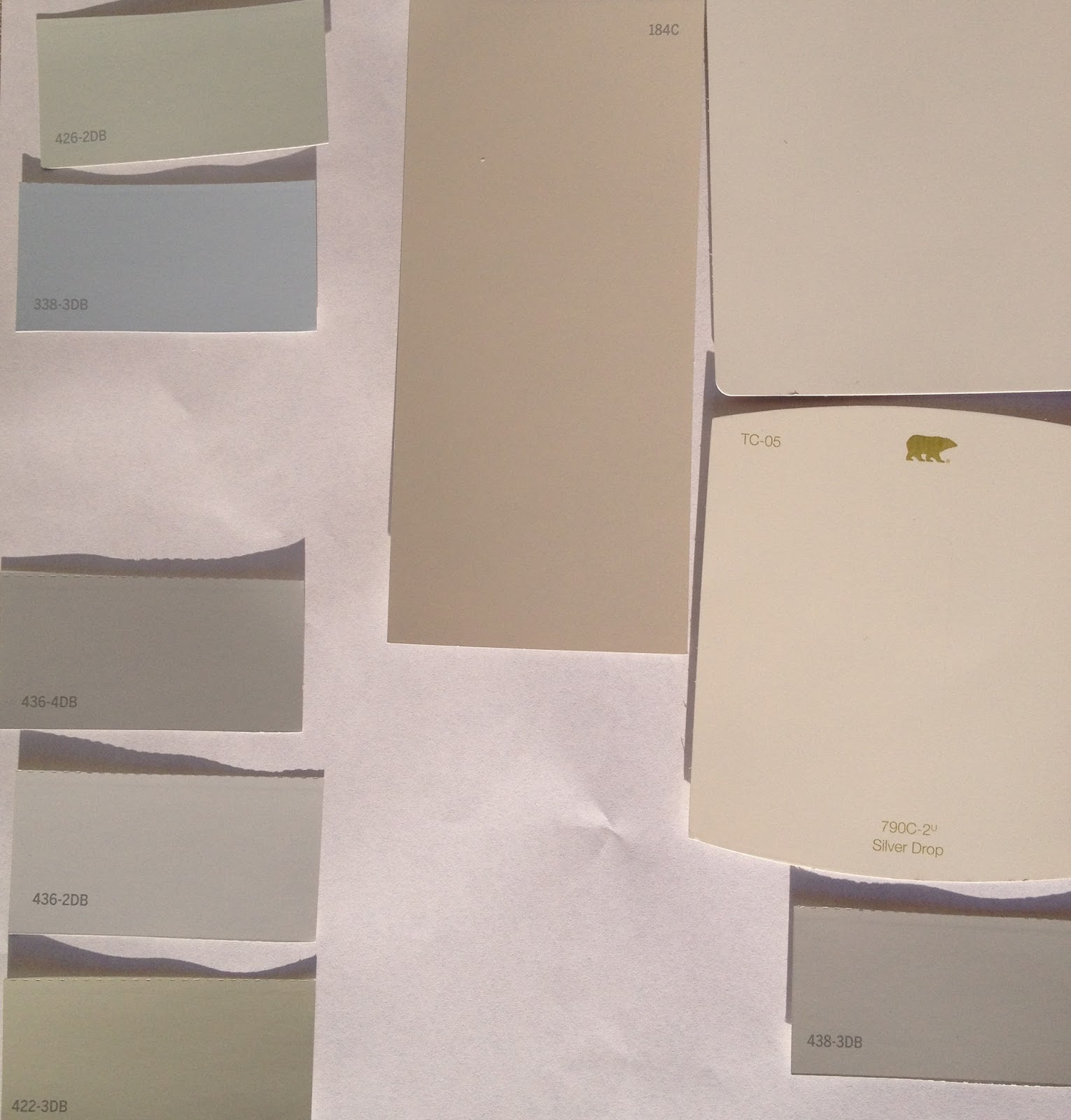 Ultra White (not Shown) Guest Bathroom, Library, Laundry Room Mudroom,  Pantry, Closets. Silvery Gray Kitchen And Greatroom