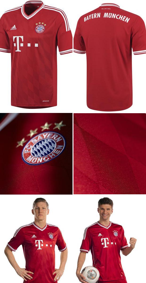 Novas camisas do Bayern de Munique