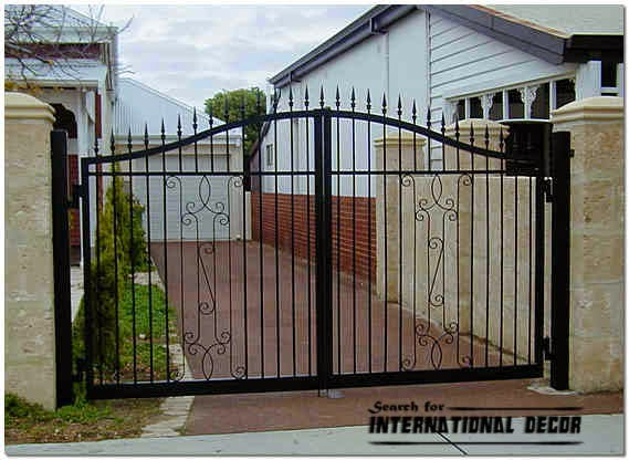 Gate designs, Gate designs for private house and garage, iron gate design