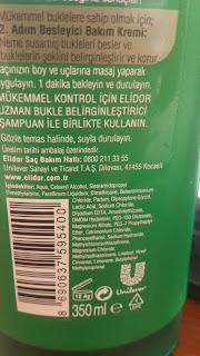 Elidor - Elidor Uzman Bukle Belirginleştirici Besleyici Bakım Kremi - Bukle Belirginleştirici Kullananlar - Elidor Kullananlar -  Kabarık Saçlar - Kıvırcık ve Bukleli Saçlar