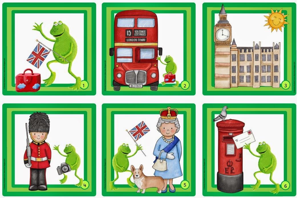 Ideenreise frosch fridolin in london lesezuordnungskarten - Frosch auf englisch ...