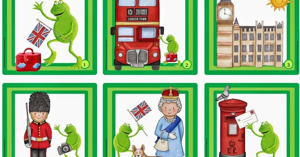 Ideenreise: Frosch Fridolin in London (Lesezuordnungskarten)